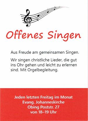 Offenes Singen in Obing